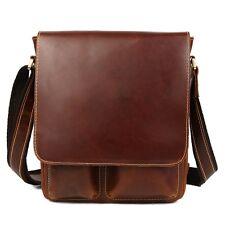 Luxus Herren Echtes Leder Schultertasche Schulranzen Beiläufig iPad Taschen