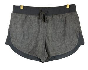 ATHLETA Womens Shorts Linen Gray Loose Drawstring Pockets Size 6