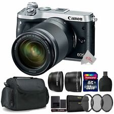 Canon EOS M6 Mirrorless Camera Silver with 18-150mm Lens Top Accessory Kit