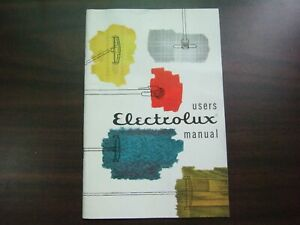 Vtg 1959 Electrolux Owner's User's Manual Model F Vacuum Cleaner Air Purifier