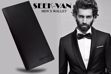Mens Luxury Soft Business Leather Bifold Wallet Credit Card Holder Quality Purse