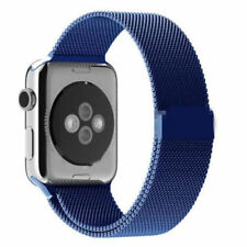 BLUE Milanese Stainless Steel Band Strap for Apple Watch 38MM 40MM 42MM & 44MM