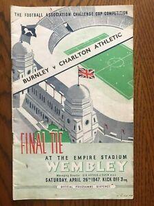 1947 FA Cup Final Programme - Burnley v Charlton Athletic