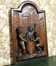 Highly carved taverne bar bistrot panel Antique french architectural salvage