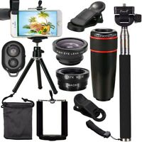 All IN 1 Accessories Phone Camera Lens Travel Kit For iPhone X S RX Galaxy S8 S9