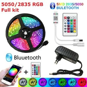 Bluetooth LED Strip Lights 5m-20m RGB 5050 SMD Flexible Ribbon Waterproof Strip