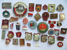40 set lot SOVIET RUSSIAN BADGE PIN medal USSR KPSS LENIN KOMSOMOL PIONEER 1 May