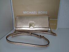 Michael Kors MK KARLA CLUTCH PALE Gold BAG Tasche Taschen Schultertasche neu