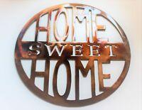 "Home Sweet Home 12"" Circle Metal Wall Art Sign"