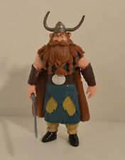 """RARE HUGE 5"""" Stoick w/ Sword 2014 Action Figure How To Train Your Dragon 2"""
