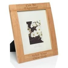 "Personalised 10""x8"" Natural Wood Photo Frame Laser - Engraved."