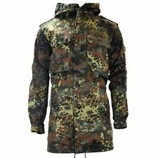 ORIGINAL GERMAN ARMY FIELD PARKA MILITARY ISSUE HOODED COMBAT JACKET FLECKTARN