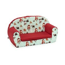 Little Red Kids Children's Double Foam Sofa Toddlers Seat Nursery Chair Girls