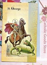 Saint St. George - Biography, prayer, Feast Day, etc... Folder Card