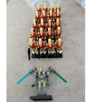 21PCS Minifigures lego Army Trooper Red Battle Droid Star wars General Grievous