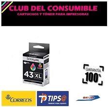LEXMARK 43XL TRICOLOR CARTUCHO DE TINTA ORIGINAL 18Y0143E