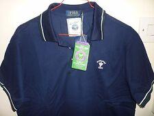Ralph Lauren Men's Navy Wimbledon Polo Shirt New Size L