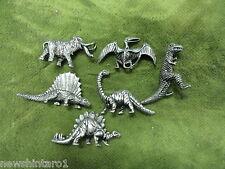 #D290.  SET OF 6  PREHISTORIC ANIMALS   METAL FIGURES
