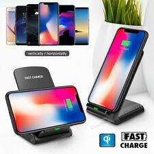 Fast Charging Qi Wireless Charger Pad Stand Dock For Samsung Galaxy S10 S8 S9