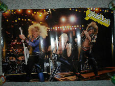 "Judas Priest 1986 Original Rock Poster On Stage Live 34""x22"" Vg+ Rolled Rare"