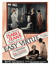 Easy Virtue (1928) Betty Balfour Alfred Hitchcock movie poster print 2