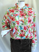 Cato Womens Jacket Plus Size 18 20W Flowers Pattern Floral Spring Fall Button