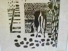 MODERNIST SIGNED ARTIST'S PROOF WOODBLOCK PRINT EVE YOUNG MID CENTURY MODERN