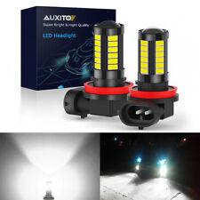 AUXITO H11 H8 33SMD LED Bulbs Fog Light Driving DRL HD lens 6000K Super Bright D