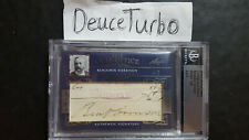 New Listing2012 Leaf Oval Office Benjamin Harrison and William Taft 4/5 dual-cut signature