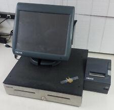 Micros Workstation 5A System Unit POS w Stand, Money Drawer, Receipt Printer