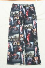 Star Wars Black Graphic Polyester Fleece Mens Mans Pajama Lounge Pants Large G22