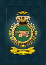 HMS WARSPITE (SUBMARINE) FRAMED SHIPS CRESTS - HUNDREDS OF HM SHIPS IN STOCK
