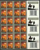 # 4711c HOLY FAMILY FOREVER UNCUT IMPERF BOOKLET PANE OF 60 stamps # S11111 MNH