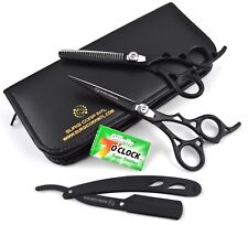"6"" Professional Hairdressing Scissor Barber Salon Haircutting Shears with Razor"