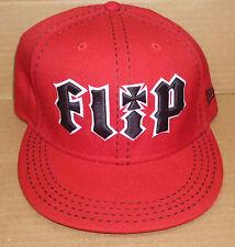 Retro red Flip skateboard punk hip hop New Era fitted hat size 71/2