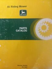 John Deere 55 Rear Engine Rider Lawn Tractor Mower Parts Manual Catalog Pc-1201