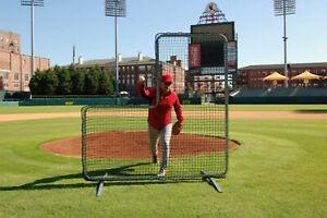 Professional L-Screen Baseball Safety Frame & Net Pitcher LScreen L Screen