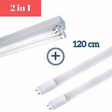 LED T8 4ft 1200mm Double Batten Fitting Fixture - with 2 tubes Cool White 6000K