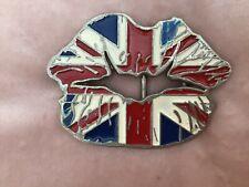 Union Jack 🇬🇧 Lips 👄 Metal Belt Buckle
