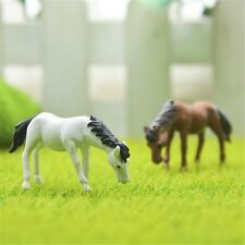 Fancy Fairy Garden Mini Horse Figurines Micro Landscape Moss Miniatures 2Pcs/Set