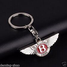 Car Key Chain Metal Single Side Logo Keychain Key Ring FOR Bentley#Red (B052)