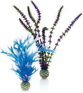 Oase Biorb Plant medium Sea SET Blue & purple Weighted plastic aquarium safe