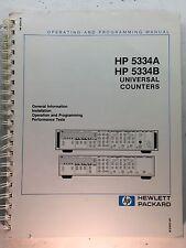 HP 5334A 5334B Universal Counters Operating & Programming Manual P/N 05334-90047