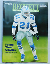 Deion Sanders Dallas Cowboys November 1995 Beckett Football Monthly