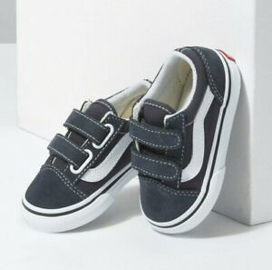 Vans Toddlers Old Skool V(Suede)India Ink/White  All Sizes 4-10 Fast Shipping