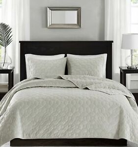 Madison Park 3 Piece Coverlet Set Size Cal King In Color Ivory NIP