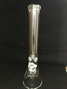 """9mmHeavy Thick Glass Water Pipe Bong Beaker """"18"""" Inch."""