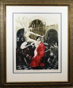 "Gatja Helgart Rothe (American,1935 - 2007) ""Don Quixote"" Original Print"
