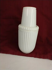 Creative Bath Products White Ribbed Dixie Cup Holder Dispenser Bathroom