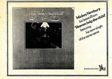 (Sds)24/3/1973Pg39 Mickey Newbury, Heaven Help The Child Album Advert 7x10